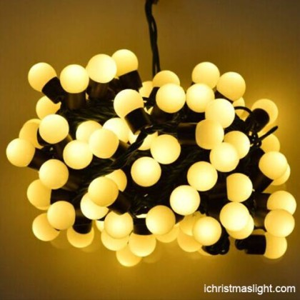 Holiday decorative warm white ball string light