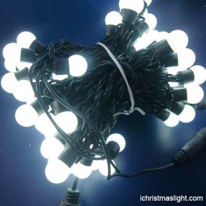 17mm white ball string lights made in China
