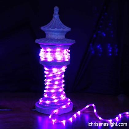 Flexible decorative purple LED rope lights