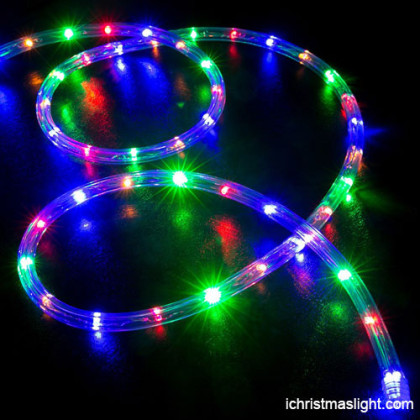 Decorative color changing led rope light