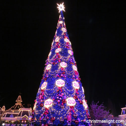 Christmas Decorations To Buy In China: 15M Tall Purple Christmas Tree Made In China