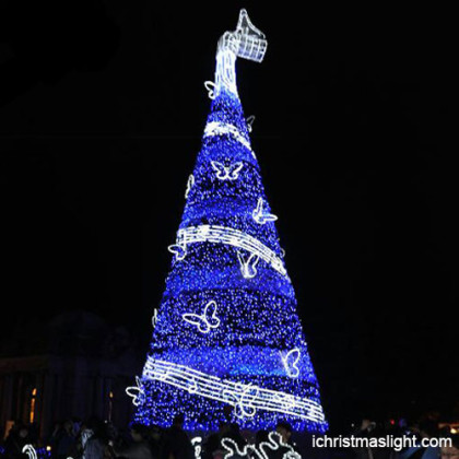 Big blue Christmas trees manufacturer