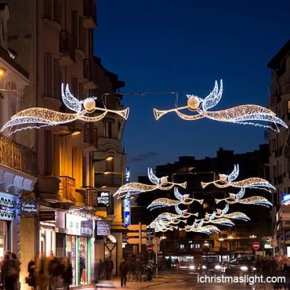 Outdoor Christmas angel shape street light