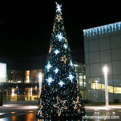 christmas tree with led light stars