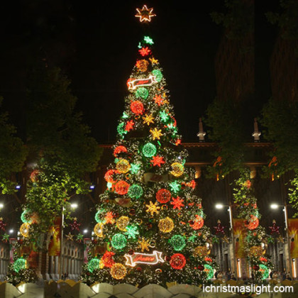 Multi color artificial christmas trees for sale