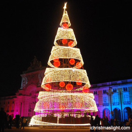 Pre lit outdoor modern christmas tree ichristmaslight outdoor spiral christmas trees made in china aloadofball Images