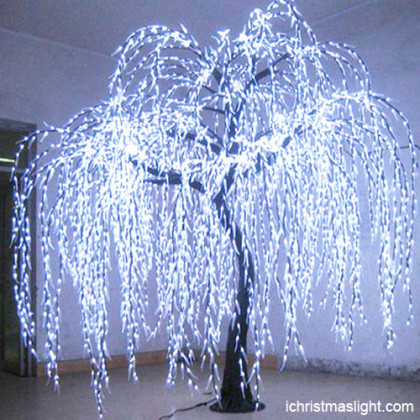 Pure white LED weeping willow trees