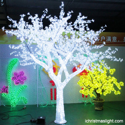 LED lighted clear acrylic Christmas tree