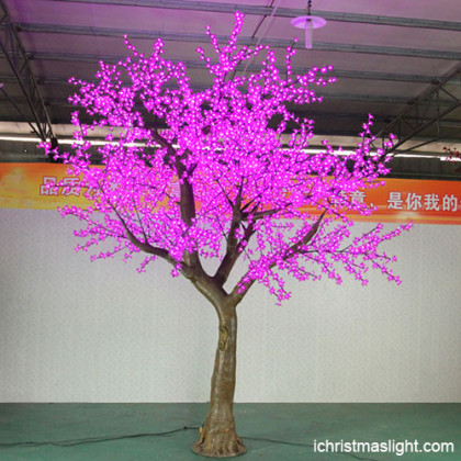 Outdoor pink LED cherry blossom tree