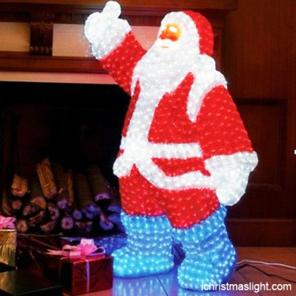 LED illuminated Santa Claus for Christmas