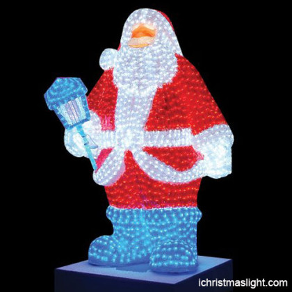 Life size LED Santa Claus for outdoor use