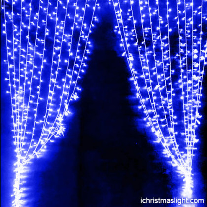 Wedding decorative blue LED curtain lights