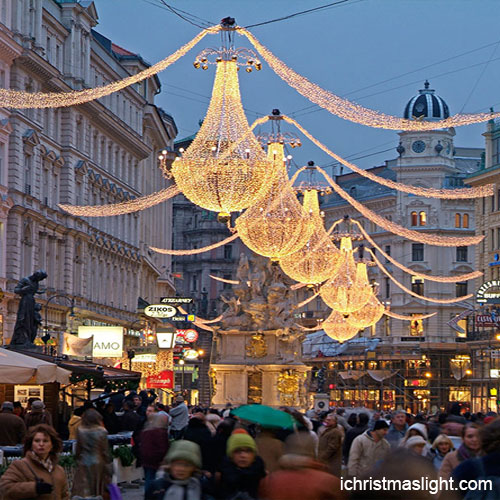 Christmas Decorations Outdoor Street Chandeliers
