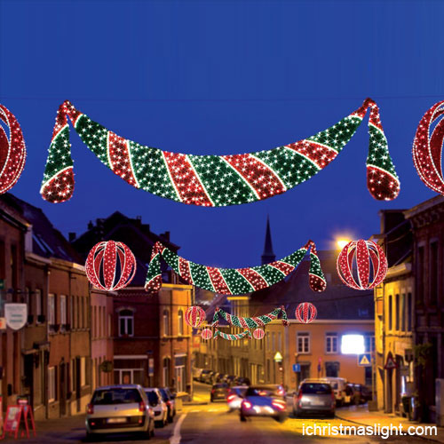 Outdoor Street Central Hanging LED Christmas Decorations