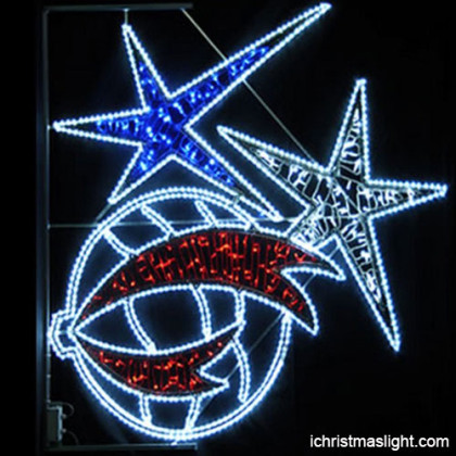 Iron frame christmas star lights manufacturer