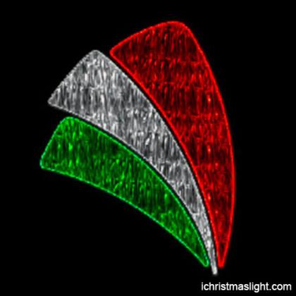 Kuwait national day decoration LED pole light