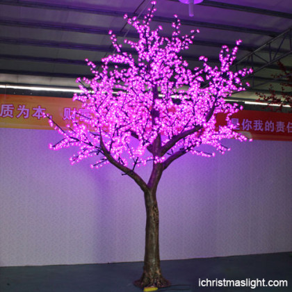 Outdoor led tree lights pink artificial tree