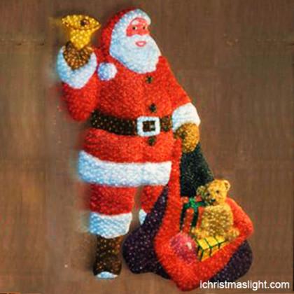 Xmas decorations LED light santa on wall