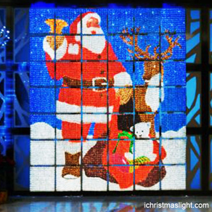 Santa Claus decorations with LED lights