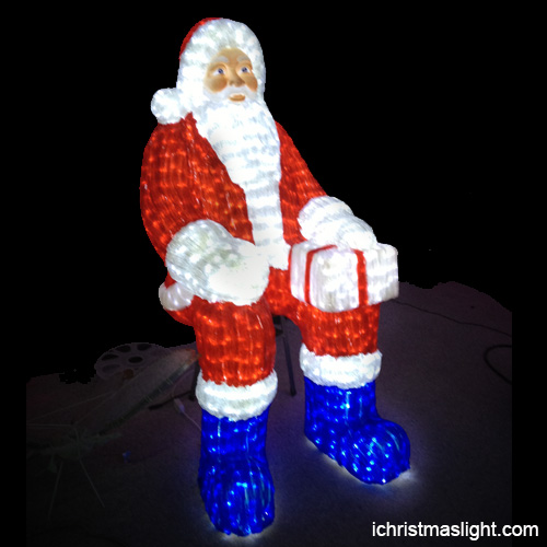 Why Leds Make The Best Christmas Lights: LED Lighted Sitting Santa Claus In China