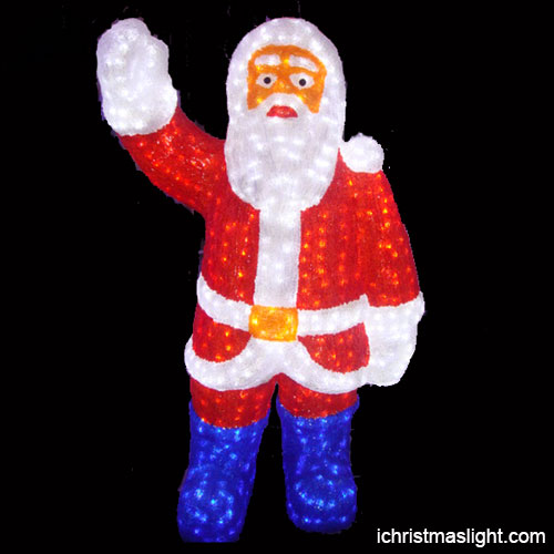 Santa Claus Lawn Decorations: Outdoor Lighted Santa Claus Made In China