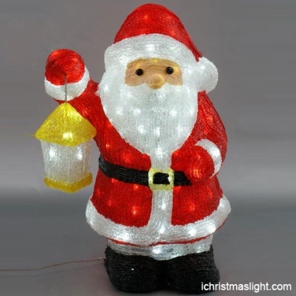 Christmas decorative LED santa claus figures