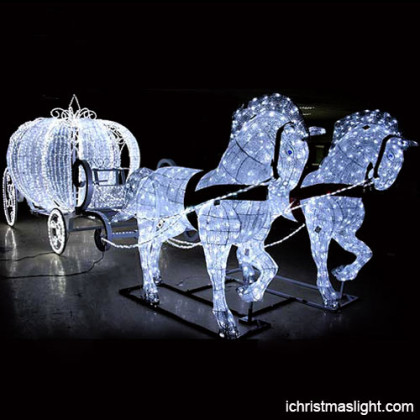 Holiday decorative LED Cinderella carriage
