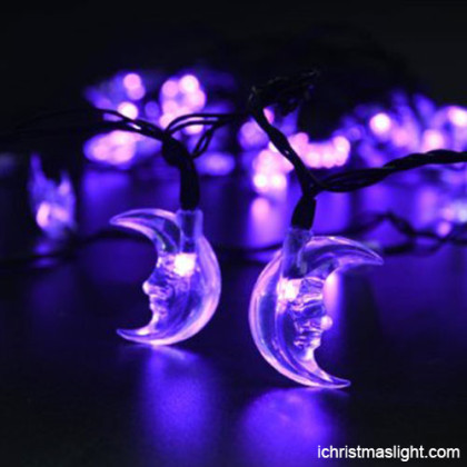 Party decoration LED purple moon string light