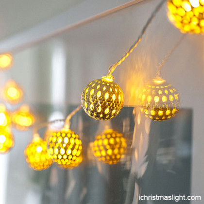 LED garden light iron ball string lights