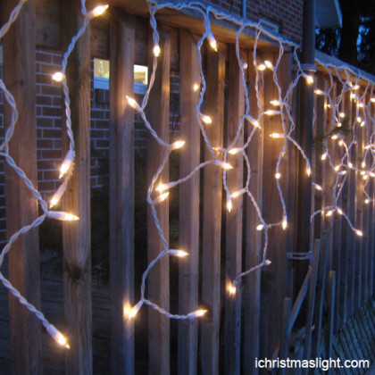Garden decorative warm white icicle light