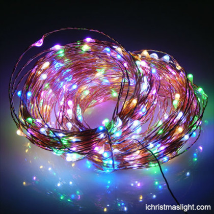 Battery operated christmas lights copper wire