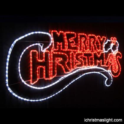 Outdoor Christmas lights Merry Christmas