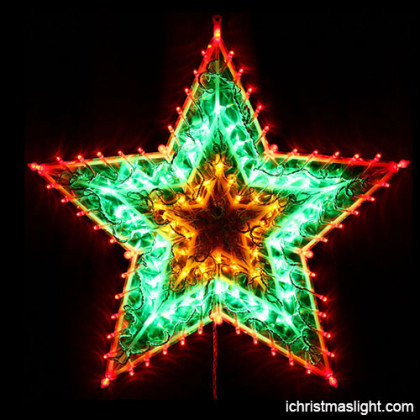 Outdoor xmas lights multicolor LED star