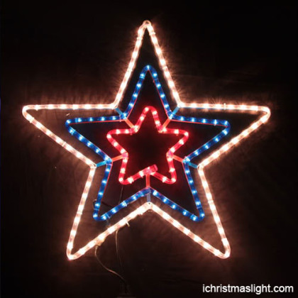 Rope light star Christmas ornament manufacturer