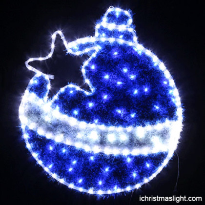 Decorative hanging LED 2D Christmas ball