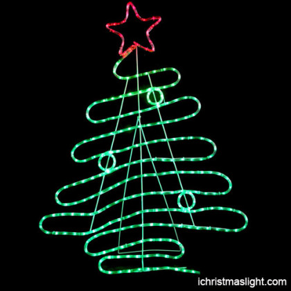 Animated LED motif rope light Christmas tree