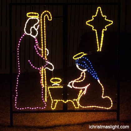 House decorative LED nativity lights supplier