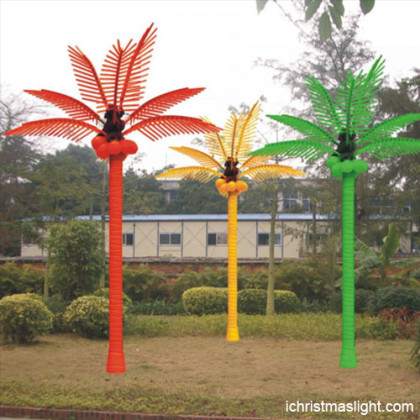 Outdoor landscape LED lighted palm tree