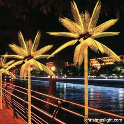 Holiday decorative led rope light palm tree