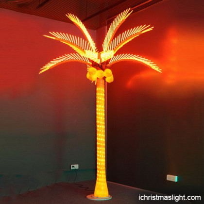 Outdoor LED lighted palm trees for sale