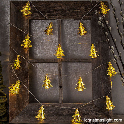 Christmas tree battery powered string lights