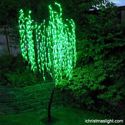 Holiday outdoor weeping willow led tree