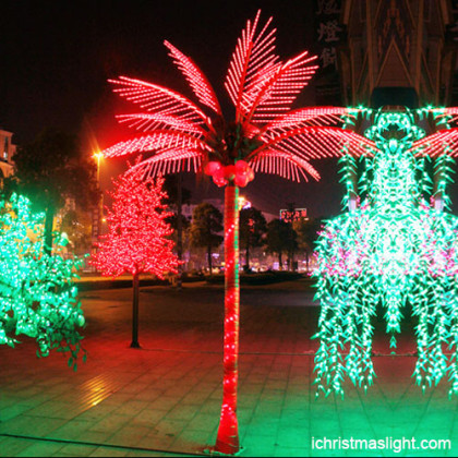 Holiday decorative red palm tree light