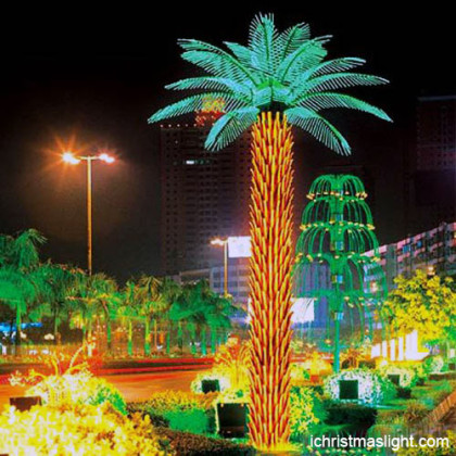 Outdoor LED lighted palm treemanufacturer