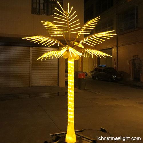 Christmas decor palm tree lights outdoor   iChristmasLight