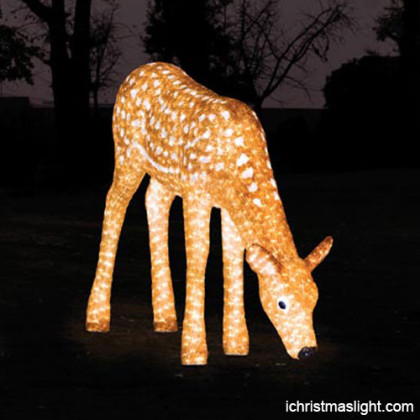 Outdoor lighted reindeer LED supplier