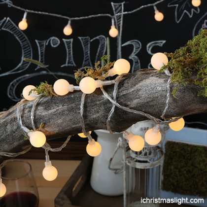 Outdoor christmas lights led ball string