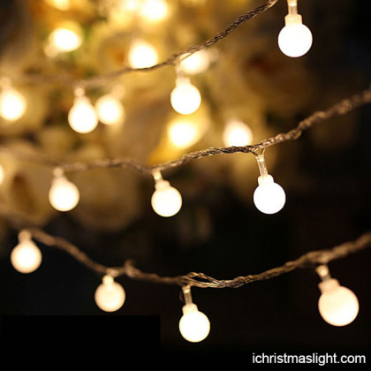 Outdoor warm light bulb string ball lights