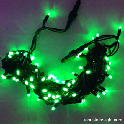 Connectable LED green christmas lights