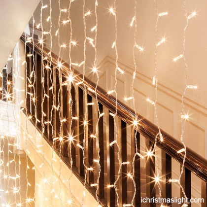 Christmas light curtains LED indoor decor